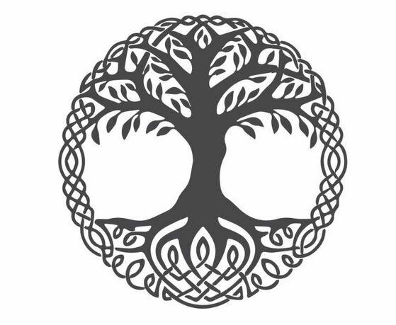 viking szimbólumok yggdrasil
